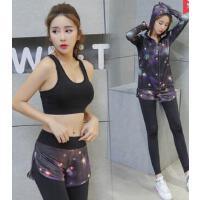 新款 健身服三件套装吸汗长袖运动瑜伽服速干显瘦跑步服 支持礼品卡