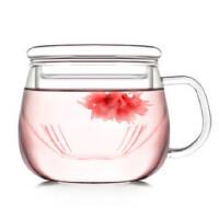 自由城 耐热玻璃花 茶壶 三件式玻璃带过滤泡水壶 CF-112