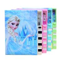 韩国创意可爱公主钢琴键密码本中小学生卡通时尚彩页日记本记事本笔记本