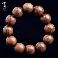 檀木手串金�z楠木沉香�跄�108佛珠男女士情�H手�