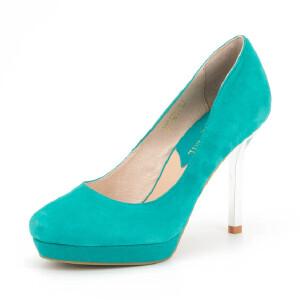 Fondberyl/菲伯丽尔秋羊皮圆头金属细高跟单鞋女鞋FB51111161