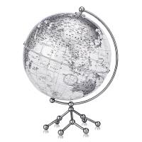 博目 25cm中英文银色政区透明地球仪 办公用品文具教具 创意礼品 办公书房装饰