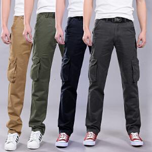 新款男装四季多口袋工装裤长裤青年款宽松直筒户外休闲裤男裤子