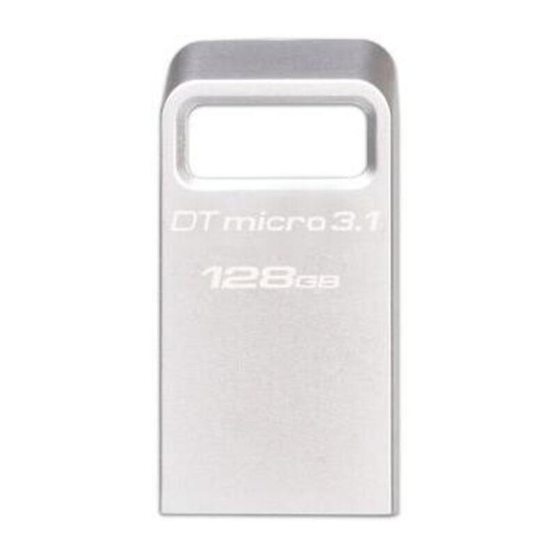 金士顿(Kingston)DTMC3 128G  USB3.1 读速100MB/s 金属U盘 银色 便携环扣 128gb USB3.1高速动力,大容量,效率快人一步