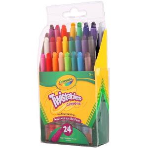 当当自营Crayola 绘儿乐 24色迷你装可拧转蜡笔 52-9724