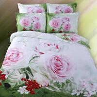 【用券立减100元】 纯棉印花三D油画四件套 全棉双人床3d被套床单立体床上用品