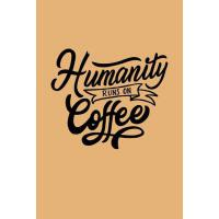 预订 Humanity Runs on Coffee: Coffee Notebook Lined Paper Per