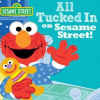 【现货】All Tucked in on Sesame Street! 英文原版 芝麻街:要睡觉了 精装