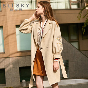 熙世界毛呢外套女中长款韩版2018新款双面尼羊毛呢子大衣118LG003