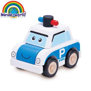 [当当自营]泰国Wonderworld 小小警车 木质玩具车
