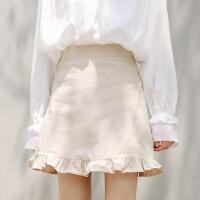 【1件7折,2件5折】白领公社 半身裙 女士秋冬新款格子毛呢百褶裙女式高腰百搭A字裙学生短裙子