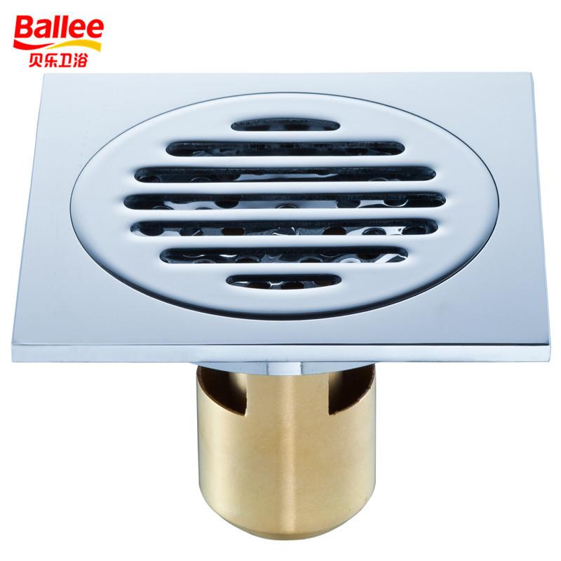 贝乐BALLEE全铜防臭防虫地漏卫生间下水地漏T50