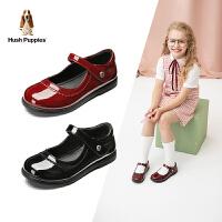 暇步士Hush Puppies童鞋女童皮鞋2020春夏季新款英伦儿童公主鞋软底单鞋演出鞋