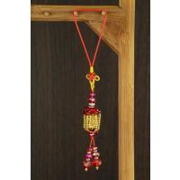 三面财神-祈福天灯吊饰(红色)《含开光》财神小铺【DSL-7516-1】带来满满财富
