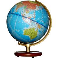 博目地球仪:25cm地形/政区中、英文灯光地球仪(木座合金架)112501