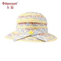 kenmont儿童帽子 春夏天女童帽 可折叠渔夫帽 小孩遮阳帽 可爱卡通防晒帽4863