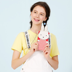 Miffy/米菲2017夏季新款韩版简约手机包女斜挎包迷你零钱小包包潮