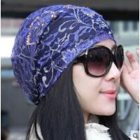 韩版休闲帽子女户外新款天空调帽头巾光头帽孕妇帽包头月子帽女士 睡帽时尚简约潮