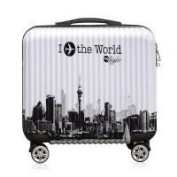 2018新款 登机箱18寸女万向轮行李箱 小清新密码箱皮箱拉杆箱潮男小型旅行箱 18寸