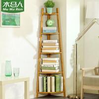 木马人简易书架置物架简约实木落地客厅桌面上收纳儿童学生小书柜子