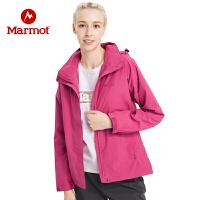【开学季】Marmot/土拨鼠女士防泼水透气压胶连结构帽冲锋衣
