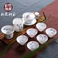 功夫茶具青花瓷红茶简易喝茶铁观音现代简约礼盒组合全套装办公室