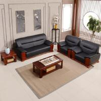 先创XC-SF3008单人位+单人位+三人位+方茶几+长茶几(牛皮)组合沙发