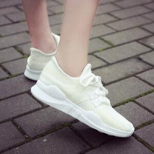 ELEISE美国艾蕾莎新品061-2829学院网布女士休闲鞋