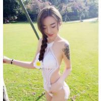 性感 泳装毛线针织镂空比基尼遮肚显瘦连体温泉游泳衣女 支持礼品卡
