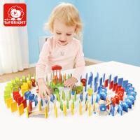 特宝儿益智玩具15粒动物桶装多米诺骨牌玩具字母数字多米诺玩具