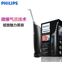 飞利浦(Philips) 冲牙器 家用电动洗牙器喷气式洗牙机洁牙器水牙线 HX8401/03 黑色