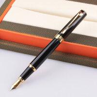 英雄钢笔 正品 英雄767纯黑金夹铱金笔 情侣刻字钢笔