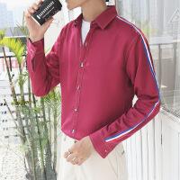 冬季毛衣打底衫韩版潮流修身学生纯色衬衫情侣衬衣男小清新外套薄