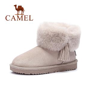 Camel/骆驼女鞋  时尚保暖雪地靴女学生加绒短靴