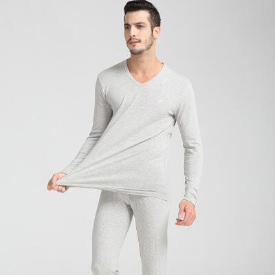 保暖内衣男士套装 同款P37431纯棉圆领V领薄秋衣秋裤 发货周期:一般在付款后2-90天左右发货,具体发货时间请以与客服协商的时间为准