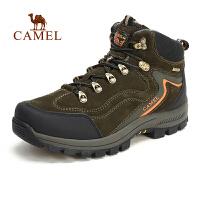 camel骆驼户外登山鞋 高帮男鞋 系带减震防滑男士鞋