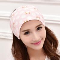 孕妇帽产妇头巾用品坐月子帽春秋产后护头带发带