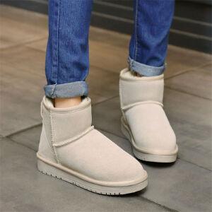 O'SHELL欧希尔新品110-17-X9欧美牛反皮女士雪地靴