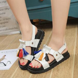 ELEISE美国艾蕾莎新品060-A1888学院女士凉鞋