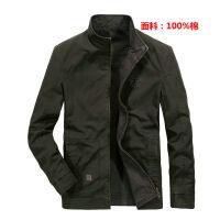 8607战地吉普AF JEEP纯棉新款夹克外套 男士立领正反二面穿茄克衫