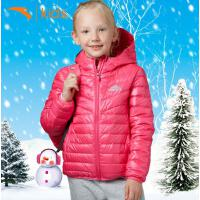 安踏女儿童羽绒服轻薄暖中大童外套秋冬款女孩连帽上衣36746911