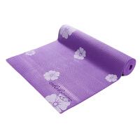 皮尔瑜伽 PVC6mm印花防滑瑜伽垫紫花 (附带背包)