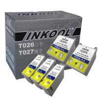 INKOOL适用于T026墨盒 T027墨盒Stylus C50 Stylus Photo 810 820 830 830U 925 935 EPSON T026墨盒 T027墨盒