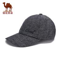骆驼男装 秋季新款休闲做旧男士棒球帽帽子出游时尚帽