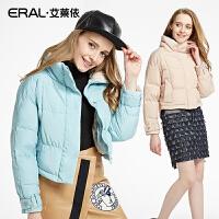 ERAL/艾莱依冬装韩版修身加厚长袖羽绒服女轻薄短款潮12012-EDAA