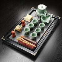 现代客厅整套陶瓷茶海茶壶功夫茶具套装茶杯家用简约乌金石泡茶盘