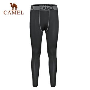 camel骆驼男款健身长裤 跑步运动紧身干爽透气针织长裤