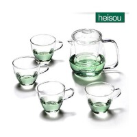 heisou正品 茶具套装 整套花草茶具 玻璃茶具五件套