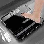 升级款USB充电电子称体重秤家用人体秤迷你精准成人减肥称重计测体重器