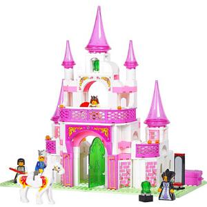 小鲁班 女孩玩具 拼插积木粉色梦想梦幻公主宫殿 儿童益智玩具 节日生日礼物